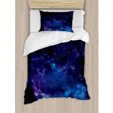 Space Illustration Galaxy Duvet Cover Set