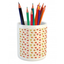 Abstract Autumn Leaf Art Pencil Pen Holder