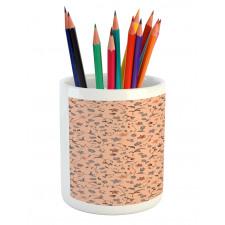 Abstract Autumn Botany Pencil Pen Holder
