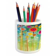 Abstract Art Dandelion Pencil Pen Holder