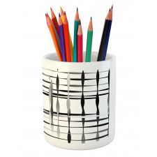 Abstract Art Geometric Pencil Pen Holder