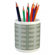 Abstract Art Floral Pencil Pen Holder