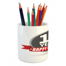 15 Emblem Pencil Pen Holder