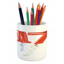 17 Party Red Balloons Pencil Pen Holder