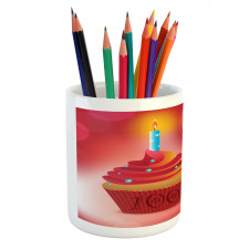 100 Old Cupcake Pencil Pen Holder