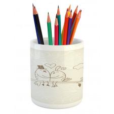 2 Birds Love Pencil Pen Holder