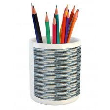Abstract Art Silhouettes Pencil Pen Holder