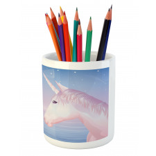 2 Akhal Teke Unicorns Pencil Pen Holder