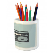 1980s Boombox Image Pencil Pen Holder