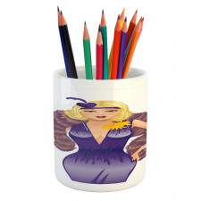 1930s Style Blondie Pencil Pen Holder