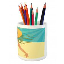 1950s Style Bikini Pencil Pen Holder