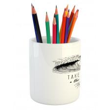 1986 Ocean Surf Waves Pencil Pen Holder
