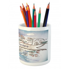 10 Years Floral Art Pencil Pen Holder