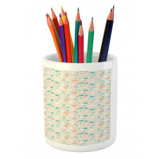 Abstract Art Floral Doodle Pencil Pen Holder