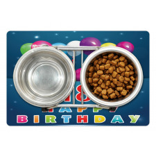 18 Birthday Balloons Pet Mat