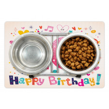 10 Years Kids Birthday Pet Mat
