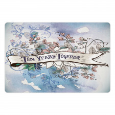 10 Years Floral Art Pet Mat