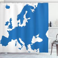 Avrupa Duş Perdesi Dünya Haritasından Bir Parçanın Soyut Çizimi