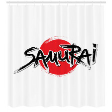 Asya Temalı Duş Perdesi Samuray Motifi