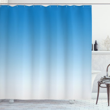 Duş Perdesi Açık Mavi Desenli