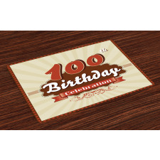 100 Old Party Invite Place Mats