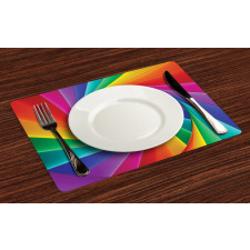 Abstract Art Vivid Swirl Place Mats