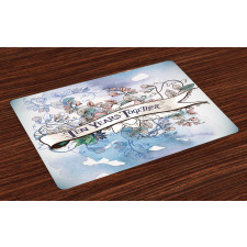 10 Years Floral Art Place Mats