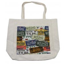 Vintage Travel Plate Shopping Bag