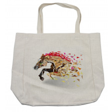 Abstract Art Wild Horse Shopping Bag