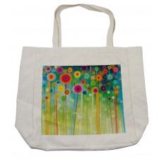 Abstract Art Dandelion Shopping Bag