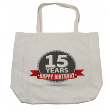 15 Emblem Shopping Bag