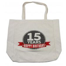 15 Emblem Shopping Bag