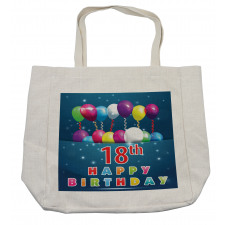 18 Birthday Balloons Shopping Bag