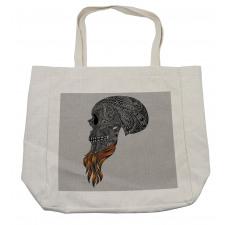 Abstract Art Skull Beard Shopping Bag