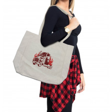 18 Wheeler Silhouette Shopping Bag