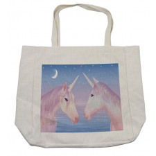 2 Akhal Teke Unicorns Shopping Bag