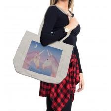 2 Akhal Teke Unicorns Shopping Bag