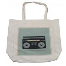 1980s Boombox Image Shopping Bag