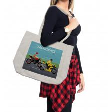 2 Bikers Racing Shopping Bag