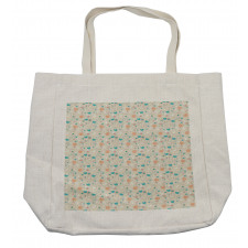 Abstract Art Floral Doodle Shopping Bag