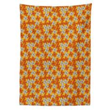 Abstract Autumn Flora Tablecloth