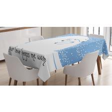 Polar Bear Mother Baby Tablecloth