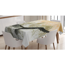 Eagle Flying Mountains Tablecloth