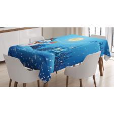 Snowman Sanra Gift Tablecloth