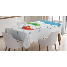 Olive Field Meadow Nature Tablecloth
