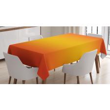 Masa Örtüsü Sarı Turuncu Desenli