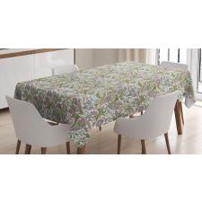 Masa Örtüsü Nostaljik Çiçek Motifli