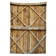Wooden Timber Door Plank Tablecloth