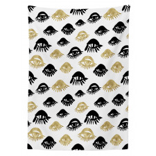 Woman Eyes Love Modern Art Tablecloth