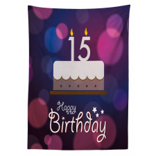 15 Birthday Cake Tablecloth